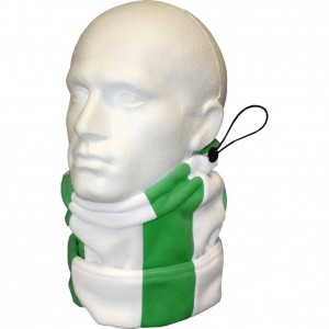 Keeper ID Neck Warmer Football Snood Black White Green