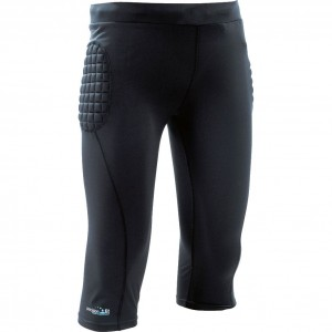 Precision GK Padded Base Layer Junior Goalkeeping 3/4 Pants (Black)