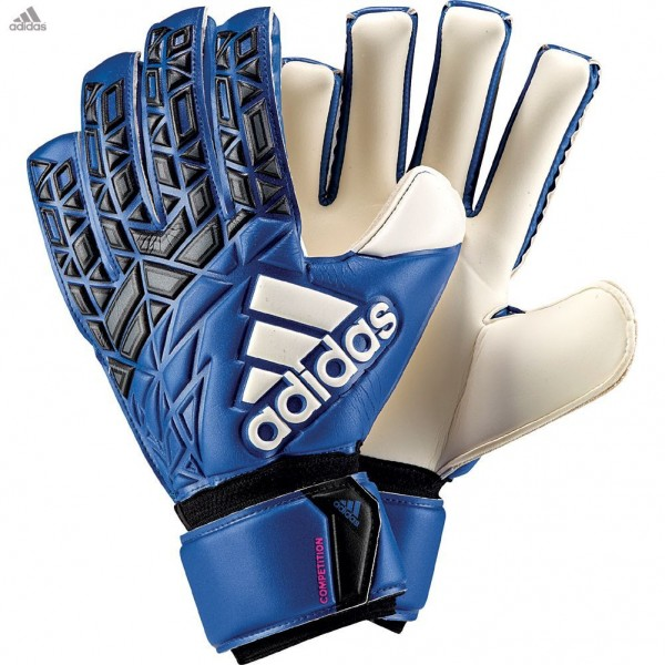 save off 3b12a 0877f Adidas ACE Competition Blue Black Junior Goalkeeper Gloves