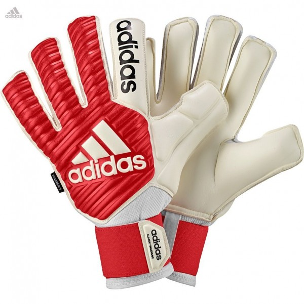 Adidas Fingersave Classic White Red Goalkeeper Gloves - Gloves by Series -  New Gloves 3e7e8773bc27