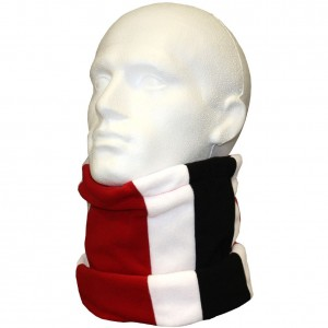 Keeper ID Neck Warmer Football Snood Black White Black Red