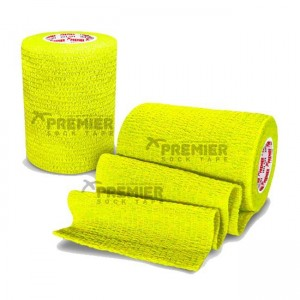 Premier Sock Tape Pro Wrap 7.5cm Tape Neon Yellow