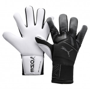 Puma One Grip 1 Hybrid Pro Black White Goalkeeper Gloves