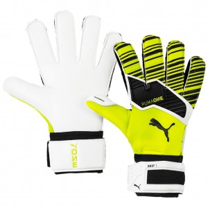 Puma One Grip RC 1 Yellow Black Goalkeeper Gloves