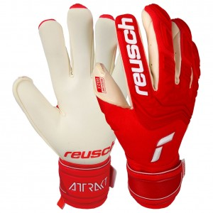 Reusch Attrakt Freegel Gold X Red White Goalkeeper Gloves