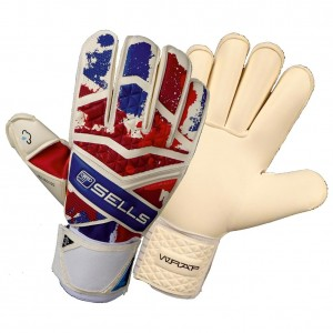 Sells Pro Wrap Union Jack Goalie Gloves