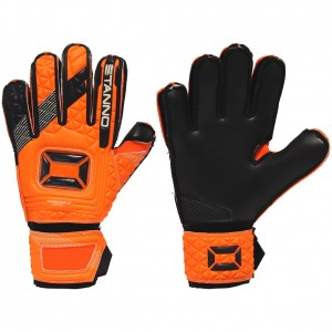 Stanno Hardground Junior Bright Orange / Black Goalkeeper Gloves