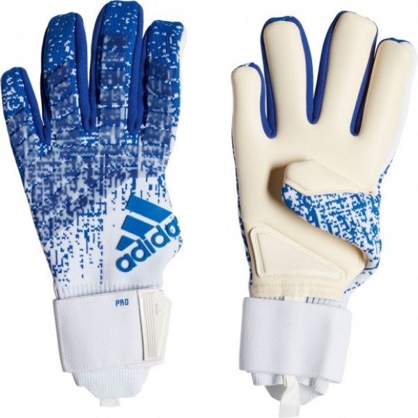hot sale online 377a3 f8d33 Adidas Predator Pro PC Promo White Bold Blue Goalkeeper Gloves
