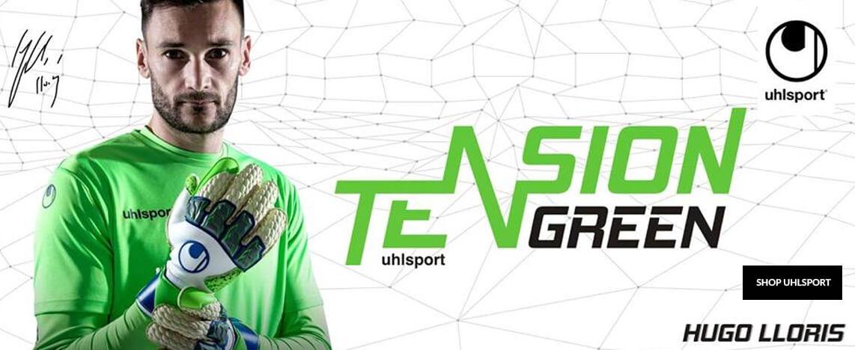 Uhlsport Tension Green Goalkeeper Gloves