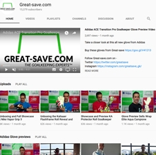 New Goalkeeper Glove Preview Videos